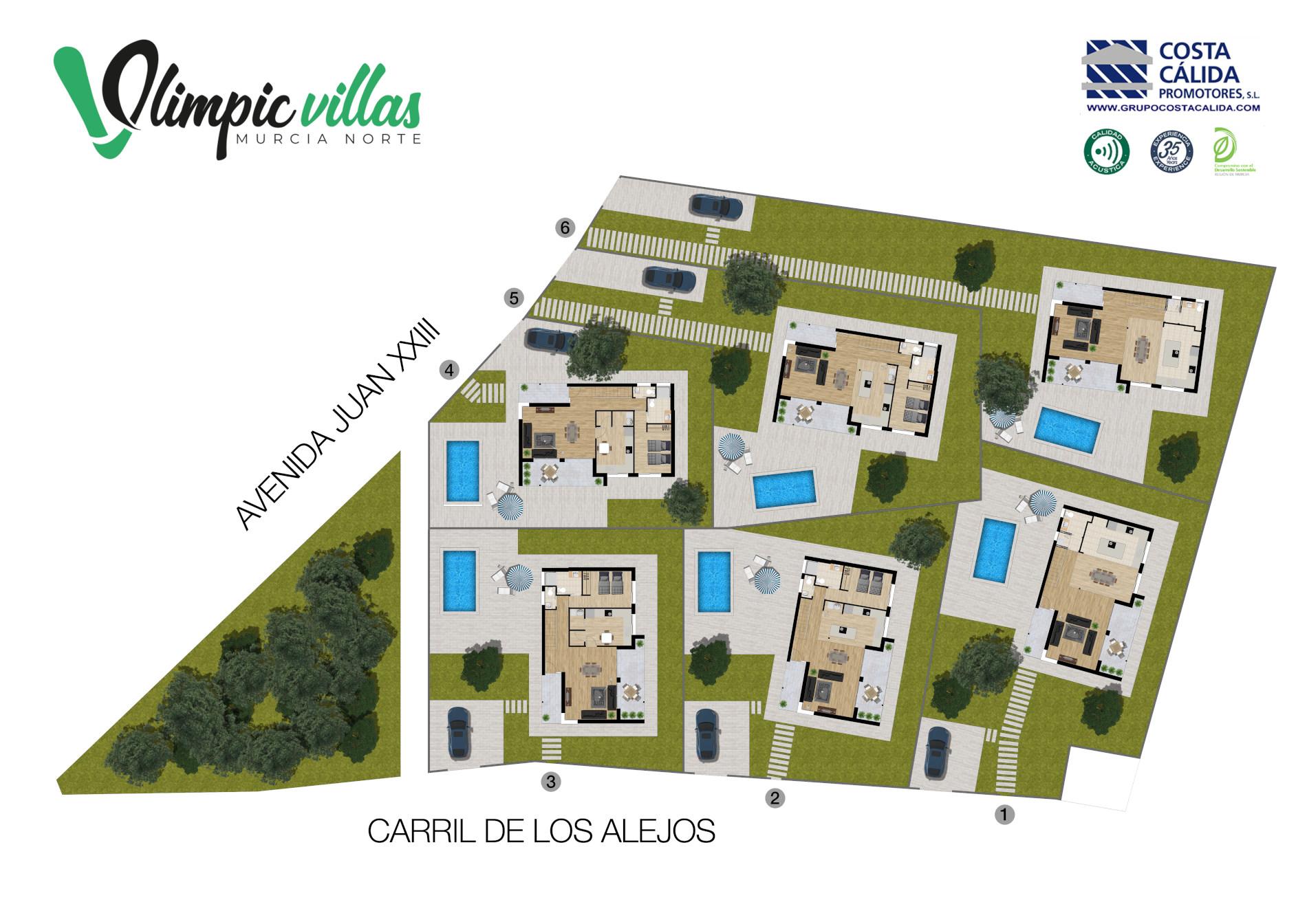 Plano General Olimpic Villas Cabezo de Torres - Murcia